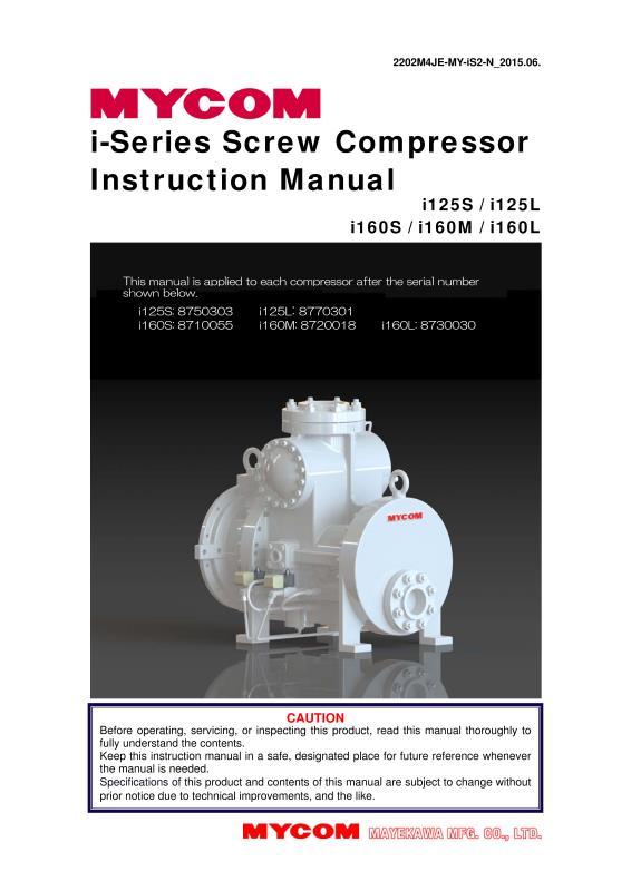 i series screw compressor instruction manual rh mayekawausa com