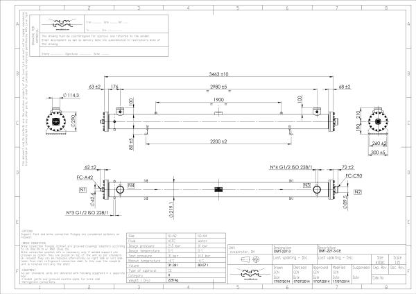 Кожухотрубный испаритель Alfa Laval DM1-226-2 Артём что такое авиационный теплообменник