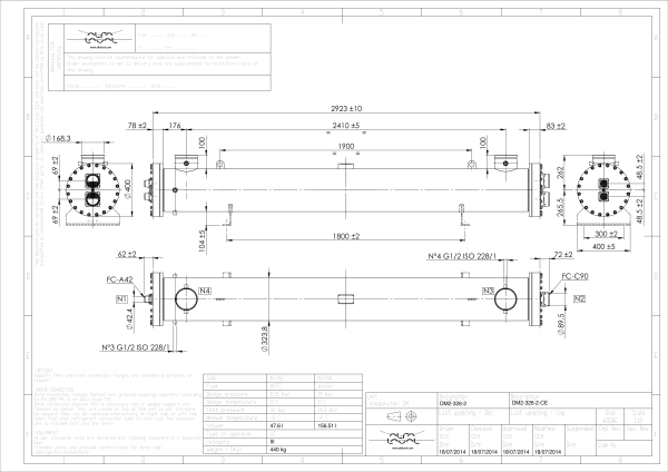 Кожухотрубный испаритель Alfa Laval DM2-227-2 Артём Кожухотрубный испаритель Alfa Laval DET 130 Артём