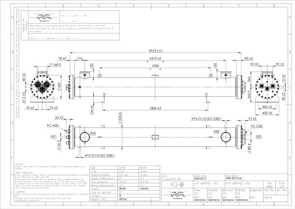 Кожухотрубный испаритель Alfa Laval DM3-327-2 Артём пластины sondex