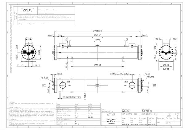 Кожухотрубный испаритель Alfa Laval DM3-227-2 Артём Пластины теплообменника Теплотекс 80B Петрозаводск