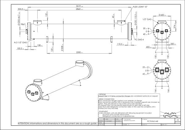 Кожухотрубный испаритель Alfa Laval PCD277-2 Артём принцип действий теплообменника