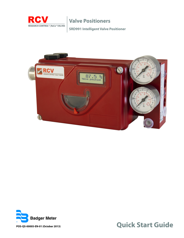 SRDSRI Valve Positioners-Badger Meter, Inc