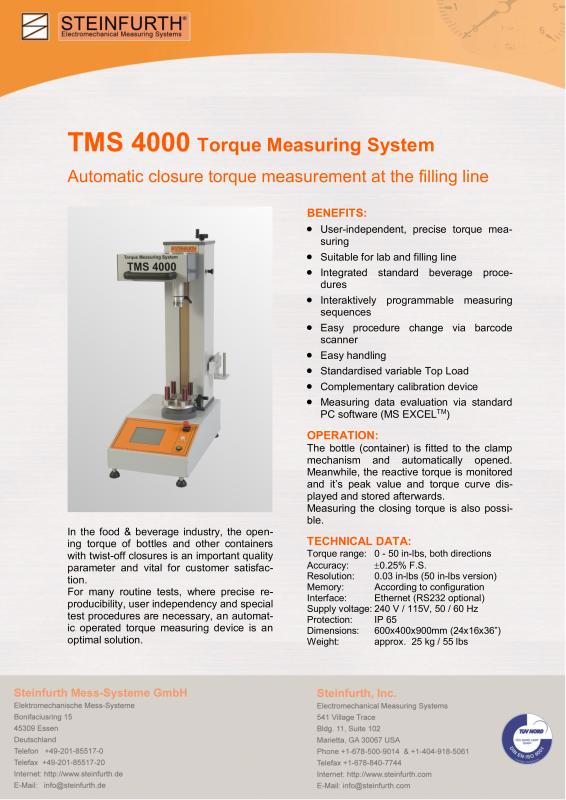 Torque Measuring System-德国斯丹佛公司